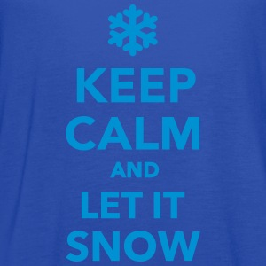 Keep calm let it snow T-Shirts - Women's Flowy Tank Top by Bella