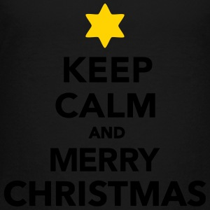 Keep calm and Merry christmas Kids' Shirts - Toddler Premium T-Shirt