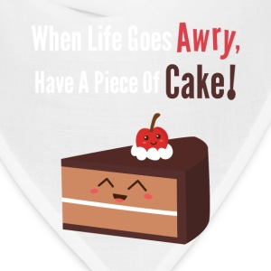 cute piece of chocolate cake with funny quote Bags & backpacks - Bandana