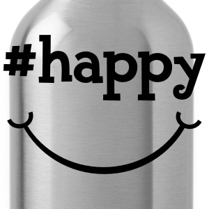 Happy Hashtag T-Shirts - Water Bottle