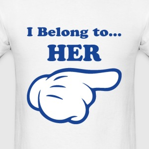 I Belong To Her Long Sleeve Shirts - Men's T-Shirt