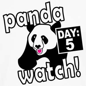 Panda watch design, inspired by Anchorman - Men's Premium Long Sleeve T-Shirt