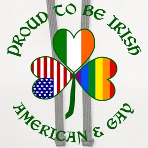 Proud Irish American Gay - Contrast Hoodie