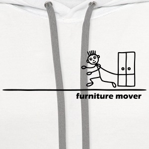 Furniture Mover with Text T-Shirts - Contrast Hoodie