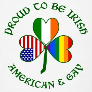 Proud Irish American Gay - Men's T-Shirt