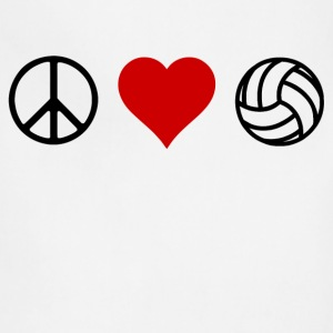peace love volleyball - Adjustable Apron