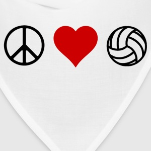 peace love volleyball - Bandana