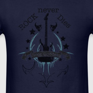 Rock Never Dies (black) - Men's T-Shirt