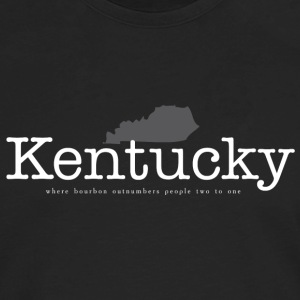 KY - Where Bourbon Outnumbers People Two to One Women's T-Shirts - Men's Premium Long Sleeve T-Shirt