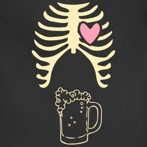 Beer xray Tshirt for dads to be - Adjustable Apron