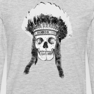 skull indian headdress T-Shirts - Men's Premium Long Sleeve T-Shirt