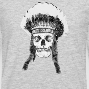 skull indian headdress Women's T-Shirts - Men's Premium Long Sleeve T-Shirt