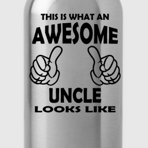 Awesome Uncle Long Sleeve Shirts - Water Bottle