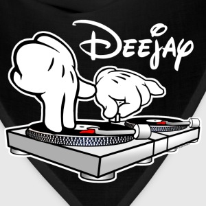DJ Cartoon Hands with Vinyl Record Turntables - Bandana
