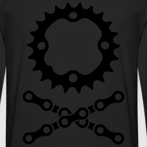 bike chain chainring skull crossbones Hoodies - Men's Premium Long Sleeve T-Shirt