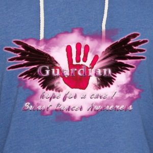 Guardian Angel hope for a cure Breast Cancer Aware T-Shirts - Unisex Lightweight Terry Hoodie