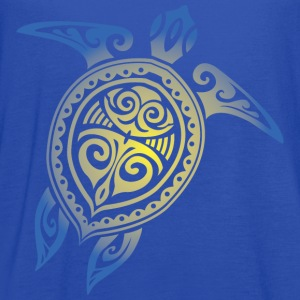 Sea Turtle - Tribal Women's T-Shirts - Women's Flowy Tank Top by Bella