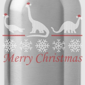 Dinosaur Christmas T-Shirts - Water Bottle