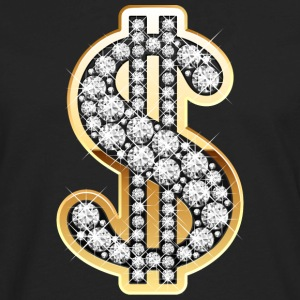 Golden Dollar Sign with Diamonds Women's T-Shirts - Men's Premium Long Sleeve T-Shirt
