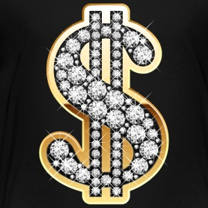 Golden Dollar Sign with Diamonds Kids' Shirts - Toddler Premium T-Shirt