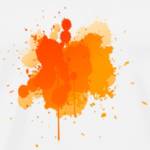 Orange Splatter Phone & Tablet Cases - Men's Premium T-Shirt