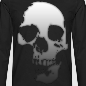 Gradient Skull T-Shirts - Men's Premium Long Sleeve T-Shirt