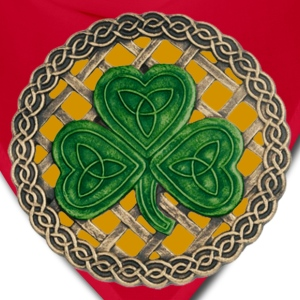 Gold Celtic Shamrock Shirt - Bandana
