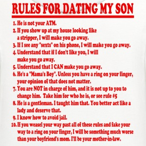 Rules For Dating My Son Womens T-shirt - Contrast Hoodie