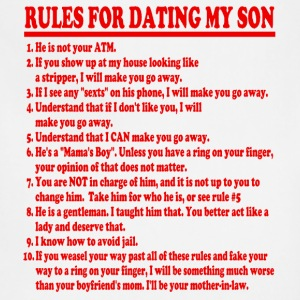 Rules For Dating My Son Womens T-shirt - Adjustable Apron