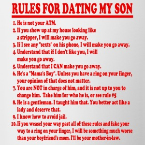 Rules For Dating My Son Womens T-shirt - Coffee/Tea Mug