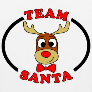 team santa reindeer male Kids' Shirts - Men's Premium Tank