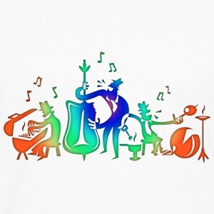 Colorful Jazz Band T-Shirts - Men's Premium Long Sleeve T-Shirt