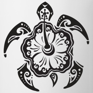 Tribal Sea Turtle Hoodies - Coffee/Tea Mug