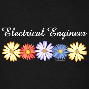 White Electrical Engineer Asters Caps - Men's T-Shirt