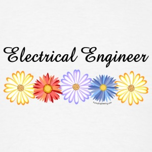 Electrical Engineer Asters Buttons - Men's T-Shirt