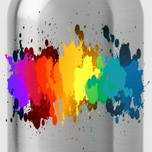 Rainbow Paint Splatter T-Shirts - Water Bottle