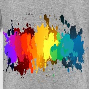 Rainbow Paint Splatter Kids' Shirts - Toddler Premium T-Shirt
