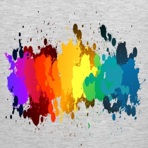 Rainbow Paint Splatter Kids' Shirts - Men's Premium Tank