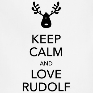 keep calm love rudolf moose reindeer christmas Women's T-Shirts - Adjustable Apron