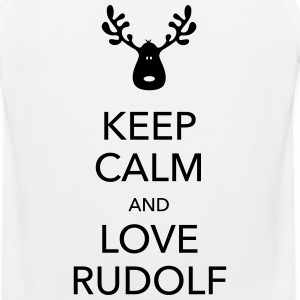 keep calm love rudolf moose reindeer christmas Women's T-Shirts - Men's Premium Tank