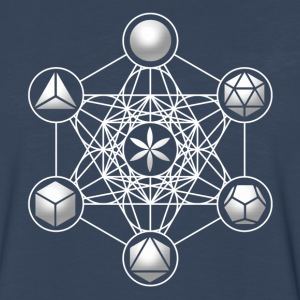 Metatrons Cube, Platonic Solids, Sacred Geometry T-Shirts - Men's Premium Long Sleeve T-Shirt