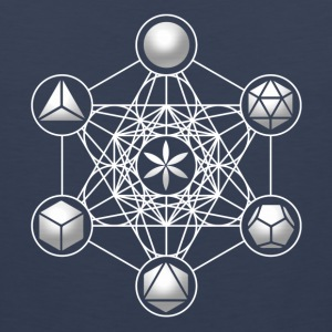 Metatrons Cube, Platonic Solids, Sacred Geometry T-Shirts - Men's Premium Tank