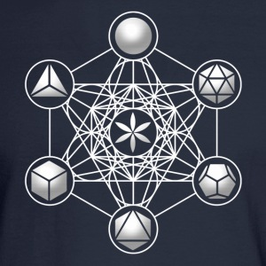 Metatrons Cube, Platonic Solids, Sacred Geometry Hoodies - Men's Long Sleeve T-Shirt