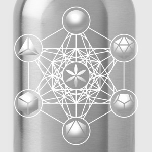 Metatrons Cube, Platonic Solids, Sacred Geometry Hoodies - Water Bottle