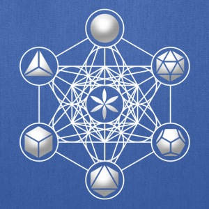 Metatrons Cube, Platonic Solids, Sacred Geometry Hoodies - Tote Bag