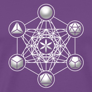 Metatrons Cube, Platonic Solids, Sacred Geometry Hoodies - Men's Premium T-Shirt