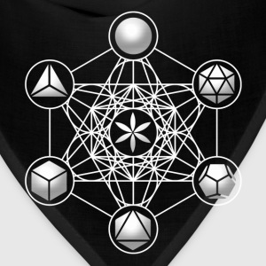 Metatrons Cube, Platonic Solids, Sacred Geometry Long Sleeve Shirts - Bandana