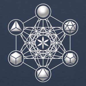 Metatrons Cube, Platonic Solids, Sacred Geometry Long Sleeve Shirts - Men's Premium Tank