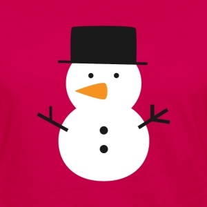 cute snowman with black top hat Hoodies - Women's Premium Long Sleeve T-Shirt