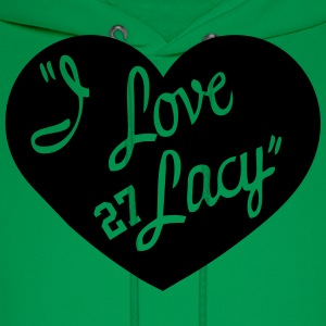 I LOVE LACY T-Shirts - Men's Hoodie